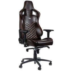 Fauteuil NOBLECHAIRS EPIC Gaming CUIR Brun coutures Beige