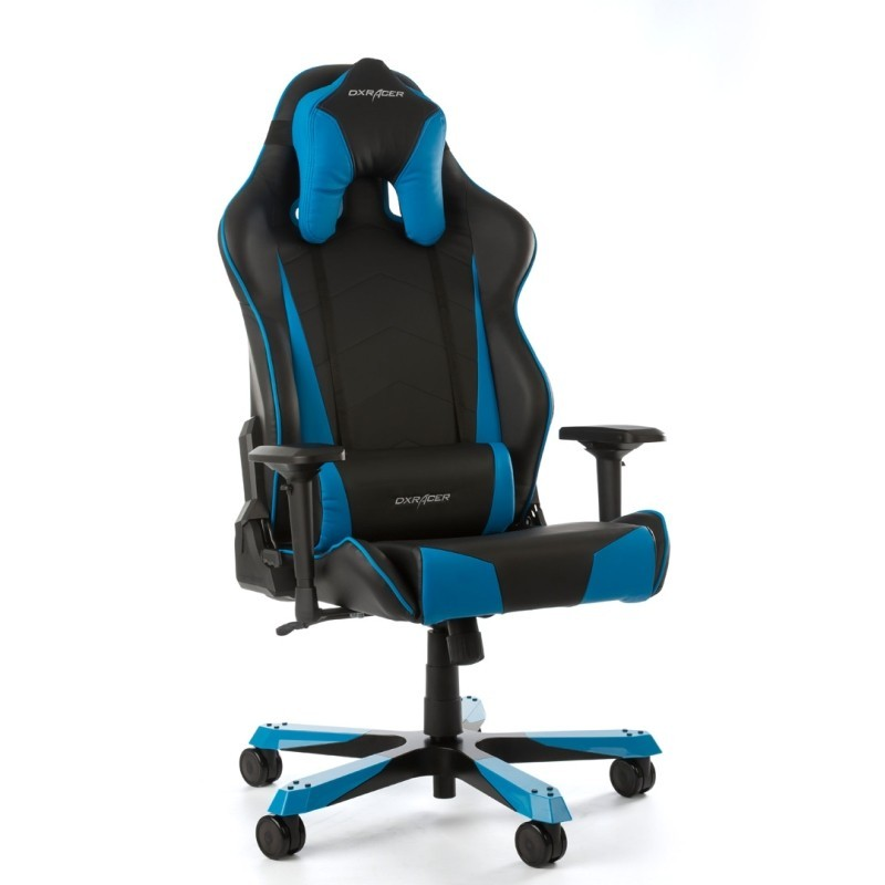 fauteuil gamer dxracer tank noir et bleu jusqu 39 200 kg. Black Bedroom Furniture Sets. Home Design Ideas