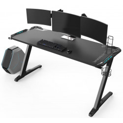 Bureau gamer Ultradesk SPACE XXL (LED) Noir