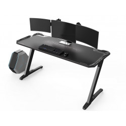Bureau gamer Ultradesk SPACE XXL (LED) Blanc