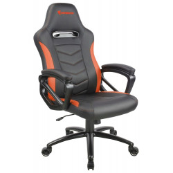 Chaise gamer Azgenon Z100 en similicuir Noir et Orange