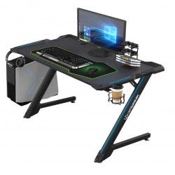 Bureau gamer Ultradesk SPACE (LED) Noir