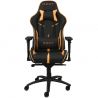 Chaise gamer REKT TEAM8 FLUO en similicuir Noir et Orange