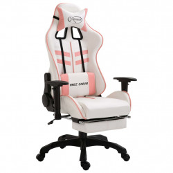 Chaise gamer VDX XTREME RELAX Blanc et Rose