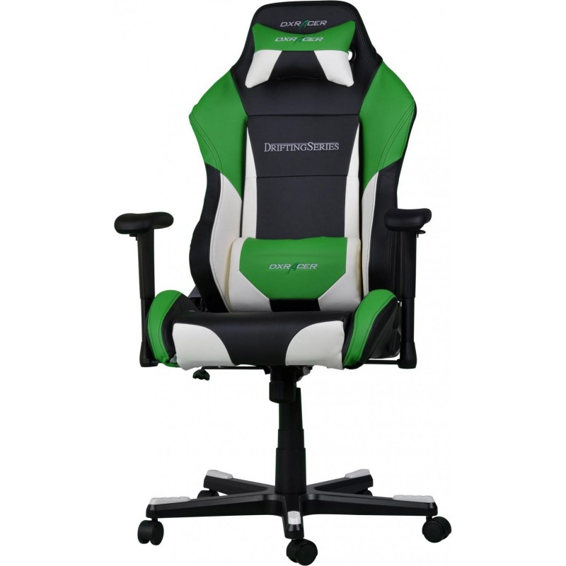 fauteuil gamer dxracer drifting noir blanc et vert. Black Bedroom Furniture Sets. Home Design Ideas