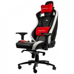 Fauteuil NOBLECHAIRS EPIC Gaming CUIR Noir - Blanc - Rouge