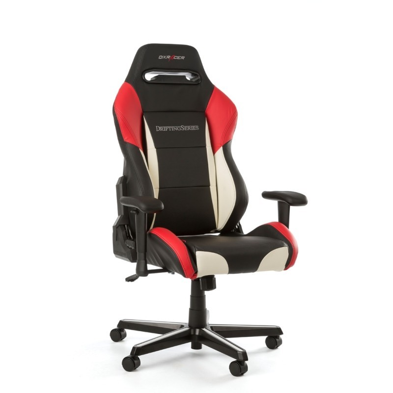 fauteuil gamer dxracer drifting noir blanc et rouge v3. Black Bedroom Furniture Sets. Home Design Ideas