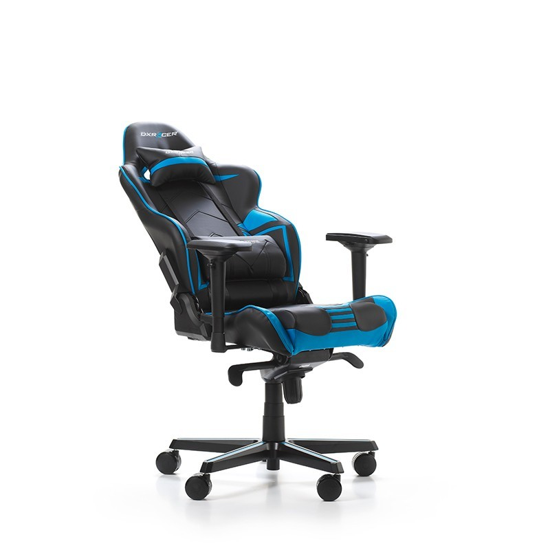 fauteuil gamer dxracer racing pro noir et bleu fauteuilgamer. Black Bedroom Furniture Sets. Home Design Ideas