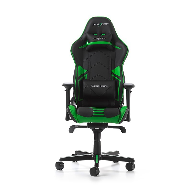 fauteuil gamer dxracer racing pro noir et vert fauteuilgamer. Black Bedroom Furniture Sets. Home Design Ideas