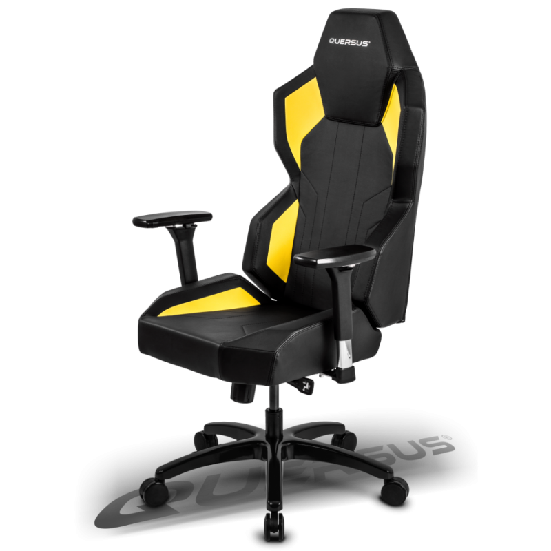 fauteuil gamer quersus evos 702 noir et jaune. Black Bedroom Furniture Sets. Home Design Ideas