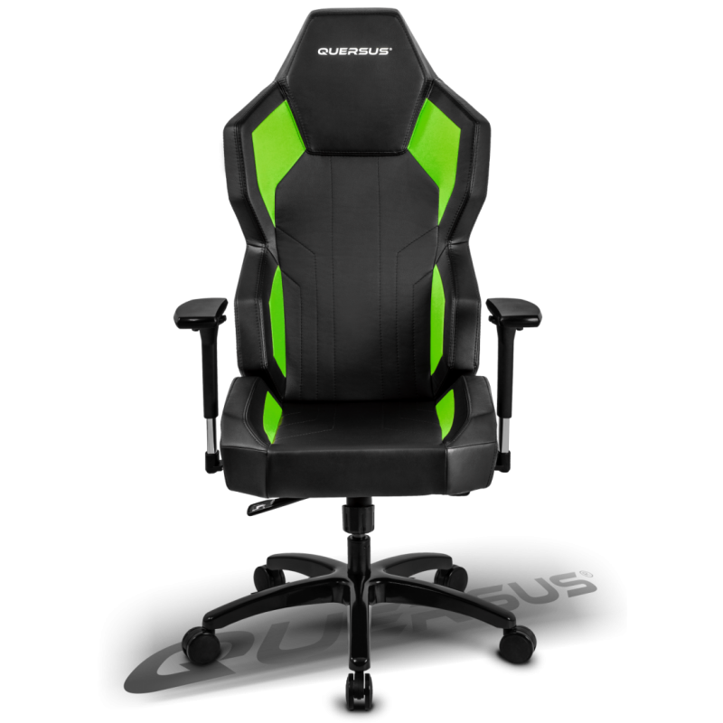 fauteuil gamer quersus geos 702 noir et vert. Black Bedroom Furniture Sets. Home Design Ideas