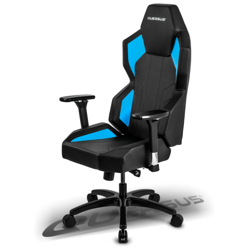 fauteuil gamer quersus geos 702 noir et bleu fauteuilgamer. Black Bedroom Furniture Sets. Home Design Ideas