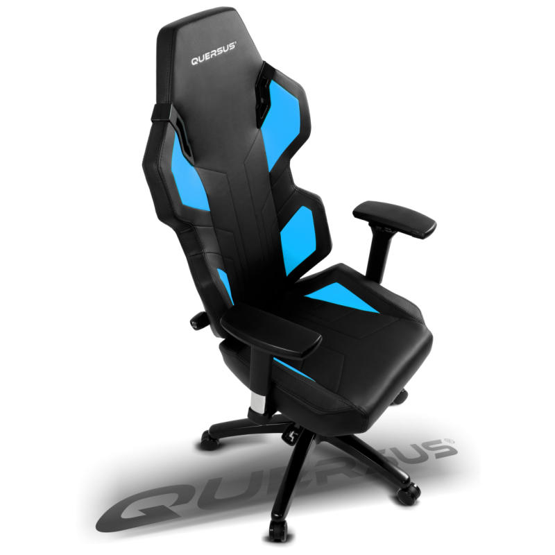 fauteuil gamer quersus evos 302 noir et bleu fauteuilgamer. Black Bedroom Furniture Sets. Home Design Ideas