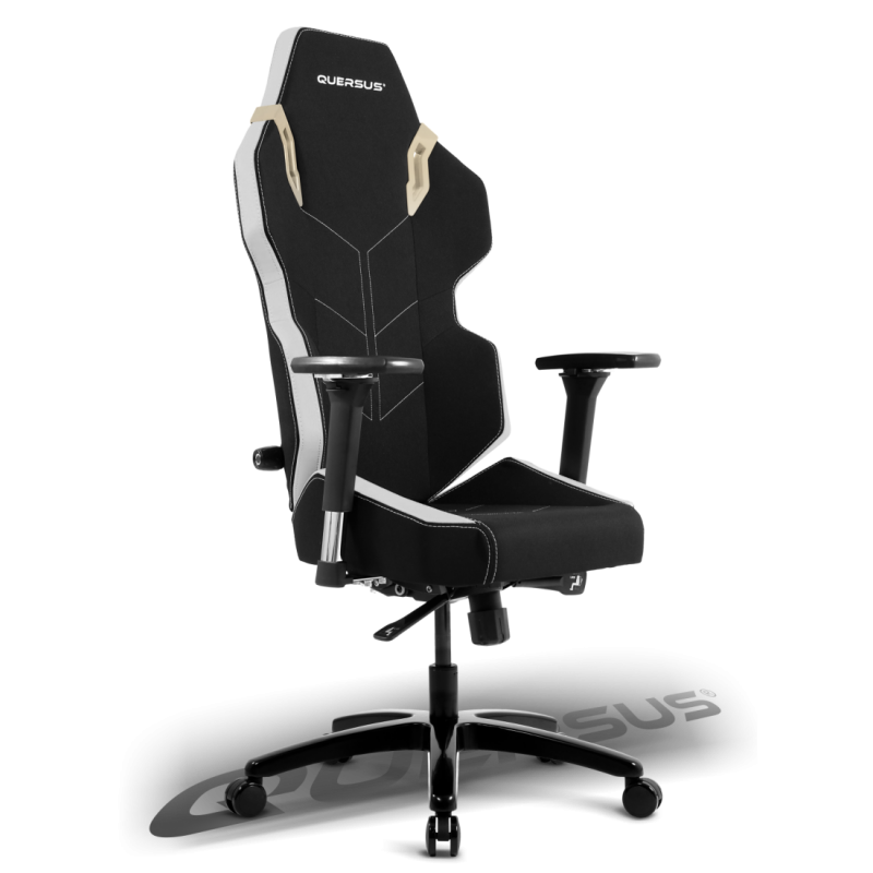 fauteuil gamer quersus evos 301 noir et blanc tissu fauteuilgamer. Black Bedroom Furniture Sets. Home Design Ideas