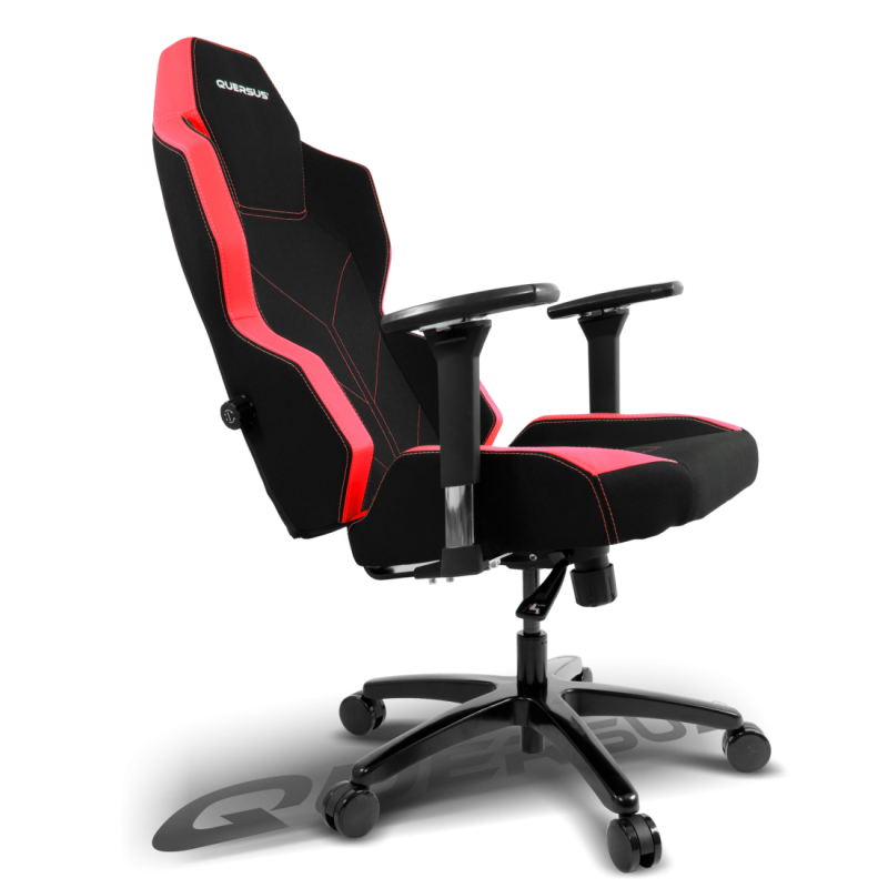 fauteuil gamer quersus geos 701 noir et rouge tissu fauteuilgamer. Black Bedroom Furniture Sets. Home Design Ideas