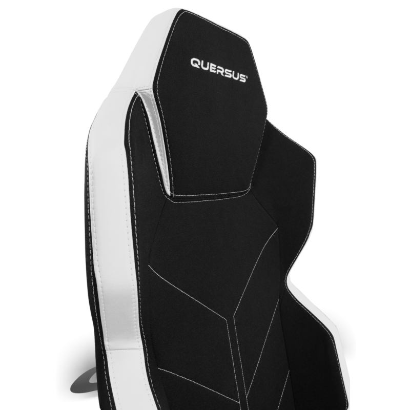 fauteuil gamer quersus geos 701 noir et blanc tissu fauteuilgamer. Black Bedroom Furniture Sets. Home Design Ideas