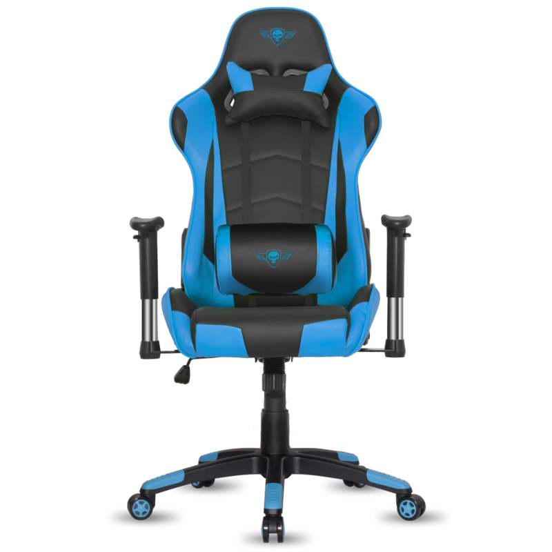 fauteuil e sport spirit of gamer demon noir et bleu fauteuilgamer. Black Bedroom Furniture Sets. Home Design Ideas