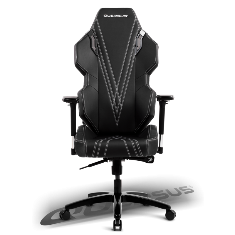 fauteuil gamer quersus evos 303 noir coutures blanches. Black Bedroom Furniture Sets. Home Design Ideas