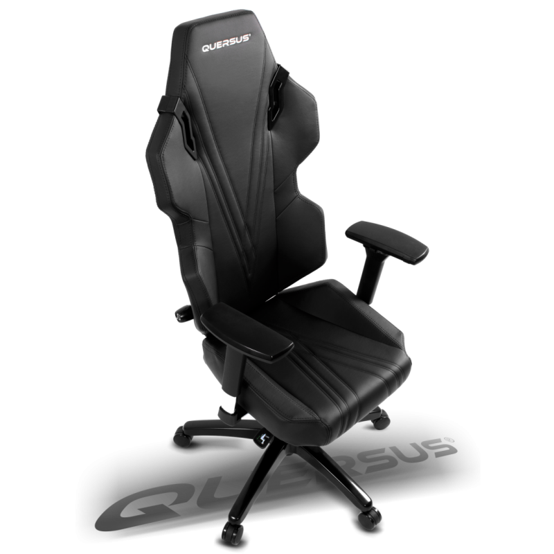 fauteuil gamer quersus evos 303 noir coutures noires fauteuilgamer. Black Bedroom Furniture Sets. Home Design Ideas