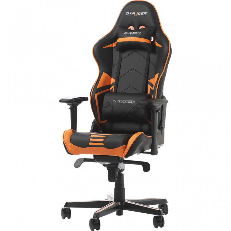 fauteuil gamer dxracer racing pro noir et orange. Black Bedroom Furniture Sets. Home Design Ideas