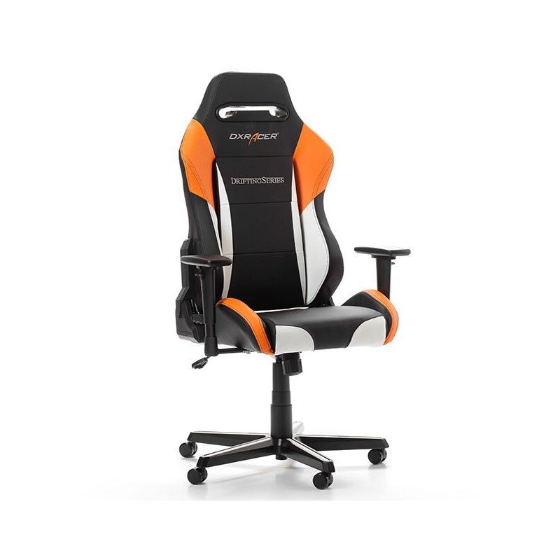 fauteuil gamer dxracer drifting noir blanc et orange v3 fauteuilgamer. Black Bedroom Furniture Sets. Home Design Ideas