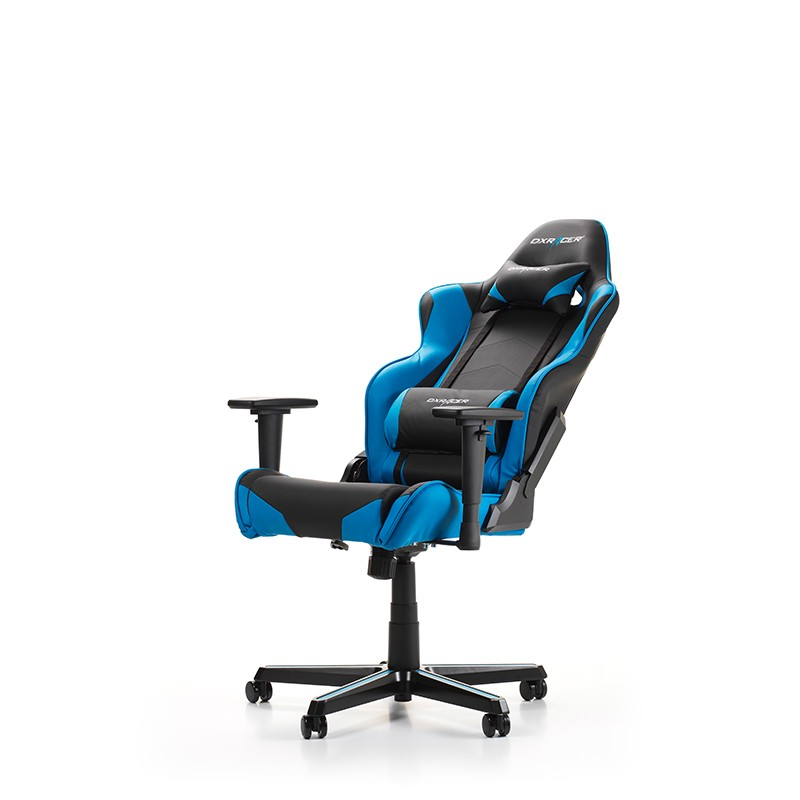 fauteuil gamer dxracer racing noir et bleu v3. Black Bedroom Furniture Sets. Home Design Ideas