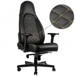 Fauteuil NOBLECHAIRS ICON Noir Coutures Or