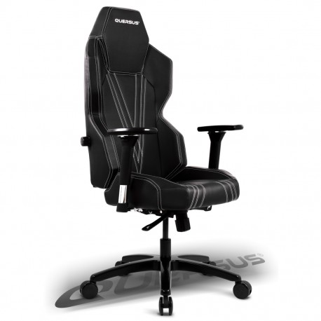 Fauteuil gamer QUERSUS GEOS 703 Noir (coutures blanches)