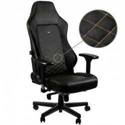 Fauteuil NOBLECHAIRS HERO Noir Coutures Or