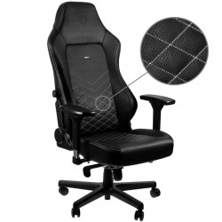 Fauteuil NOBLECHAIRS HERO Noir Coutures Blanches