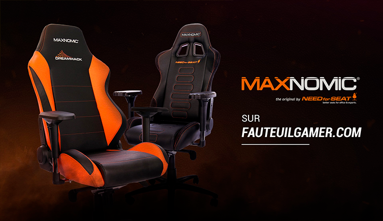 NEW - Maxnomic disponible sur FAUTEUILGAMER.com